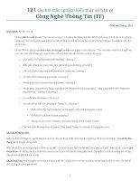 121 câu trắc nghiệm tin học đại cương