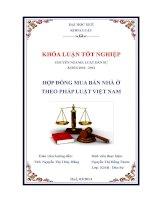 hợp đồng mua bán nhà ở theo pháp luật việt nam