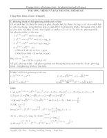 Phương trình bất phương trình hệ phương trình mũ và logarit