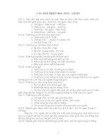 868 Câu hỏi trắc nghiệm môn triết học Mác LêNin (Full)