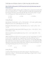 Bài tập chọn lọc phản ứng cộng của hidrocacbon