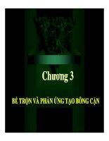 Chương 3: Bể trộn và phản ứng tạo bông cặn