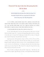 Tài liệu môn Tư tưởng Hồ Chí Minh chuyên đề Học tập và làm theo tấm gương đạo đức Hồ Chí Minh