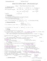 Tóm tắt công thức và phương pháp giải bài tập dao động cơ học