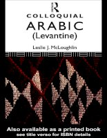 colloquial arabic (levantine) the complete course for beginners