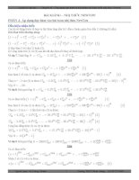 Ứng dụng đạo hàm và tích phân vào khai triển nhị thức Newton