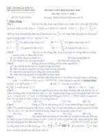 đề thi thử đại học vật lý của bộ giáo dục (cục khảo thí) số 05