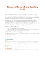 Discourse Markers trong Speaking IELTS potx