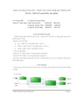 Báo cáo thiết kế mạch đếm sản phẩm