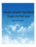 tiểu luận managing successful organizational change in the public sector