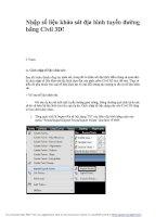 giáo trình civil 3d 2012 tập 1