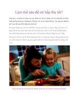 Làm thế nào để trẻ hấp thu tốt? pdf