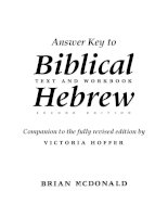 biblical hebrew a text and workbook answer key