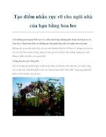Tạo điểm nhấn rực rỡ cho ngôi nhà của bạn bằng hoa leo potx