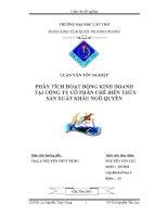phân tích hoạt động kinh doanh tại công ty cổ phần chế biến thủy sản xuất khẩu ngô quyền