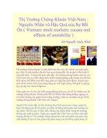 Thị Trường Chứng Khoán Việt-Nam : Nguyên Nhân và Hậu Quả của Sự Bất Ổn docx