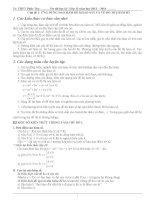 Đề cương ôn tập môn toán học kỳ I lớp 12 năm 2013 - 2014