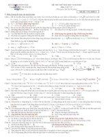 Đề thi thử đại học môn vật lý