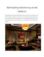 Bài trí phòng khách trong căn hộ chung cư potx