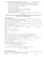 Tuyển tập phân loại các bài tập hóa học vô cơ