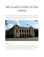 Kiến trúc phố cổ và kiến trúc Pháp ở Hà Nội doc