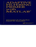 adaptive filtering primer with matlab - poularikas and ramadan