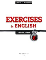 exercises in english - grammar workbook - teacher guides level e