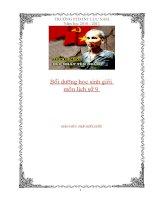 tài liệu bồi dưỡng học sinh giỏi môn lịch sử 9