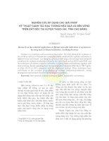 NGHIÊN CỨU ÁP DỤNG CÁC GIẢI PHÁP KỸ THUẬT CANH TÁC ĐẬU TƯƠNG HIỆU QUẢ VÀ BỀN VỮNG TRÊN ĐẤT DỐC TẠI HUYỆN THẠCH AN, TỈNH CAO BẰNG potx