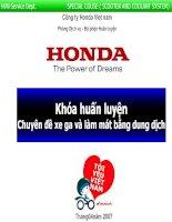 Tài liệu sửa chữa xe máy tay ga của hãng xe Honda Việt nam