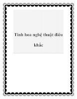 Tinh hoa nghệ thuật điêu khắc pdf