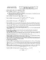 ĐỀ THI THỬ LẦN 1 - 2014 - MÔN TOÁN - KHỐI A, A1, B - TRƯỜNG THPT CAN LỘC - HÀ TĨNH