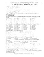 Tài liệu bồi dưỡng HSG tiếng anh lớp 9