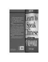 learn to speak chinese book 1