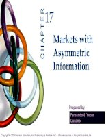 bài giảng kinh tế vi mô - chương xvii thị trường và các thông tin bất đối xứng