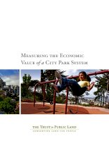 Measuring the Economic Value of a City Park System docx