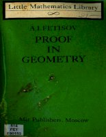proof in geometry (chứng minh trong hình học) in by a. i. fetisov