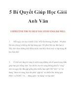 5 Bí Quyết Giúp Học Giỏi Anh Văn pdf
