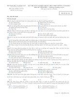 Đề thi - Đáp án môn Sinh học - Tốt nghiệp THPT Giáo dục thường xuyên ( 2013 ) Mã đề 614 ppt