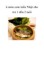6 món cơm kiểu Nhật cho trẻ 1 đến 2 tuổi pdf