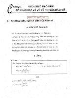 ứng dựng đạo hàm để vẽ đồ thị hàm số