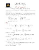 Kinh tế lượng Bài tập và đáp án Thống kê và hồi quy đơn