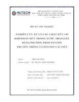 nghiên cứu xử lý các chất hữu cơ khó phân hủy trong nước thải giấy bằng phương pháp fenton truyền thống và cải tiến