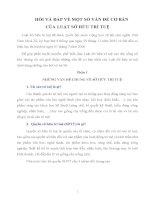 HỎI VÀ ĐÁP VỀ MỘT SỐ VẤN ĐỀ CƠ BẢN  CỦA LUẬT SỞ HỮU TRÍ TUỆ