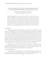 RỪNG NGẬP MẶN TẠI CỬA SÔNG GIANH TỈNH QUẢNG BÌNH VÀ GIẢI PHÁP PHÁT TRIỂN BỀN VỮNG ĐẤT NGẬP NƯỚC potx