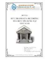 Bức tranh của hệ thống tổ chức tín dụng tại Việt Nam