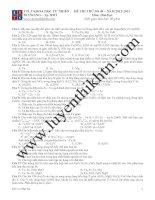 ĐỀ THI THỬ SỐ 04 – NĂM 2012-2013 Môn: Hóa học potx