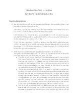 Môn Luật Hôn Nhân và Gia Đình - Kết Hôn Và Các Điều Kiện Kết Hôn docx