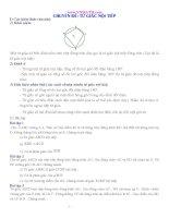 Tài liệu ôn tập môn toán 9 Chuyên đề tứ giác nôi tiếp tham khảo
