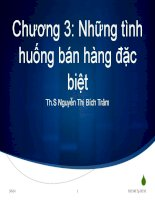 Bài giảng Quản trị bán hàng: Chương 3 - ThS. Nguyễn Thị Bích Trâm